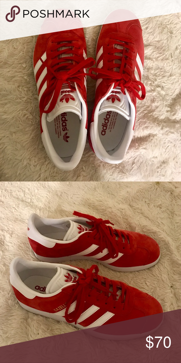 043895923eb Adidas Gazelle - Red - Women s 7 Selling red Adidas Gazelles ...