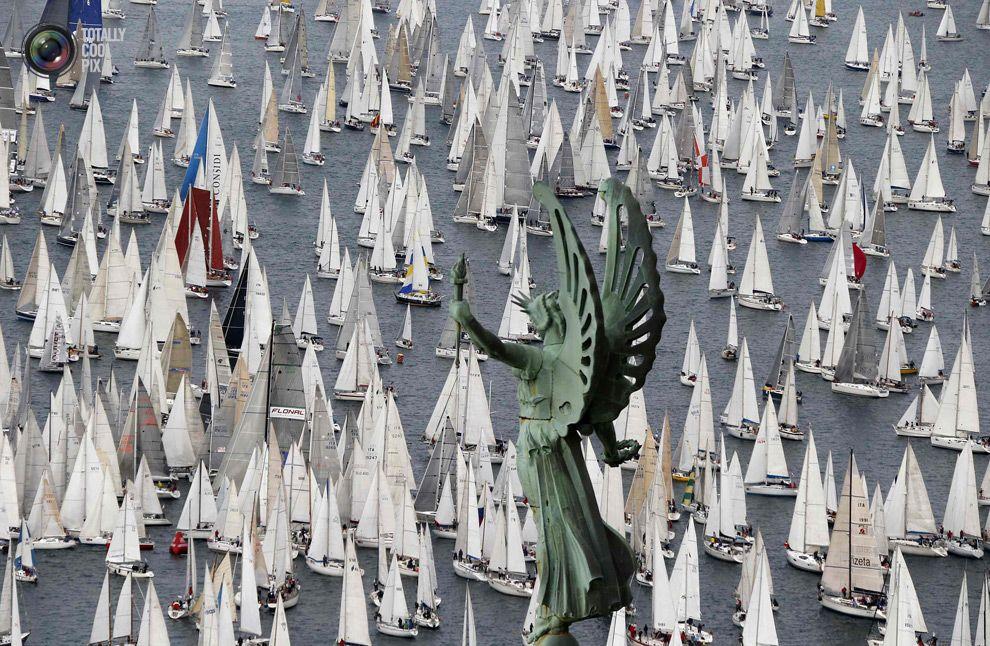 Barcolana regatta in front of Trieste harbour. STEFANO RELLANDINI/REUTERS