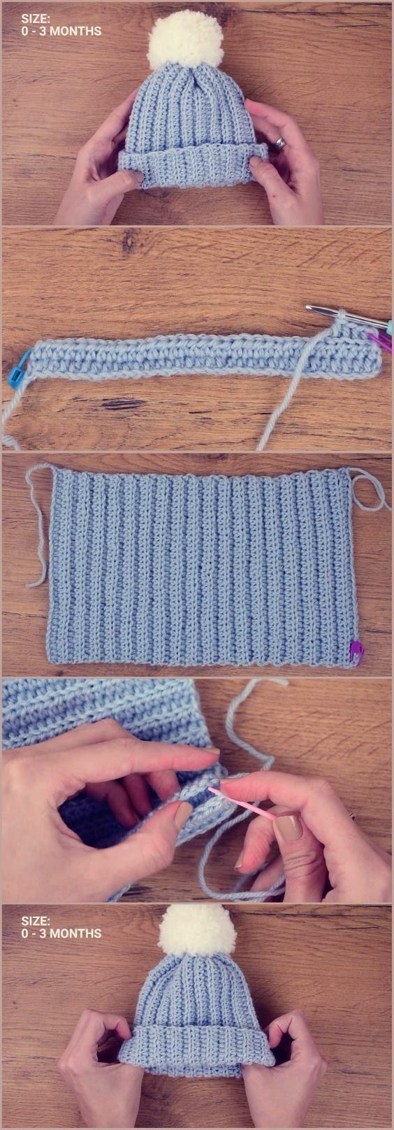 Crochet Baby Beanie #beanies