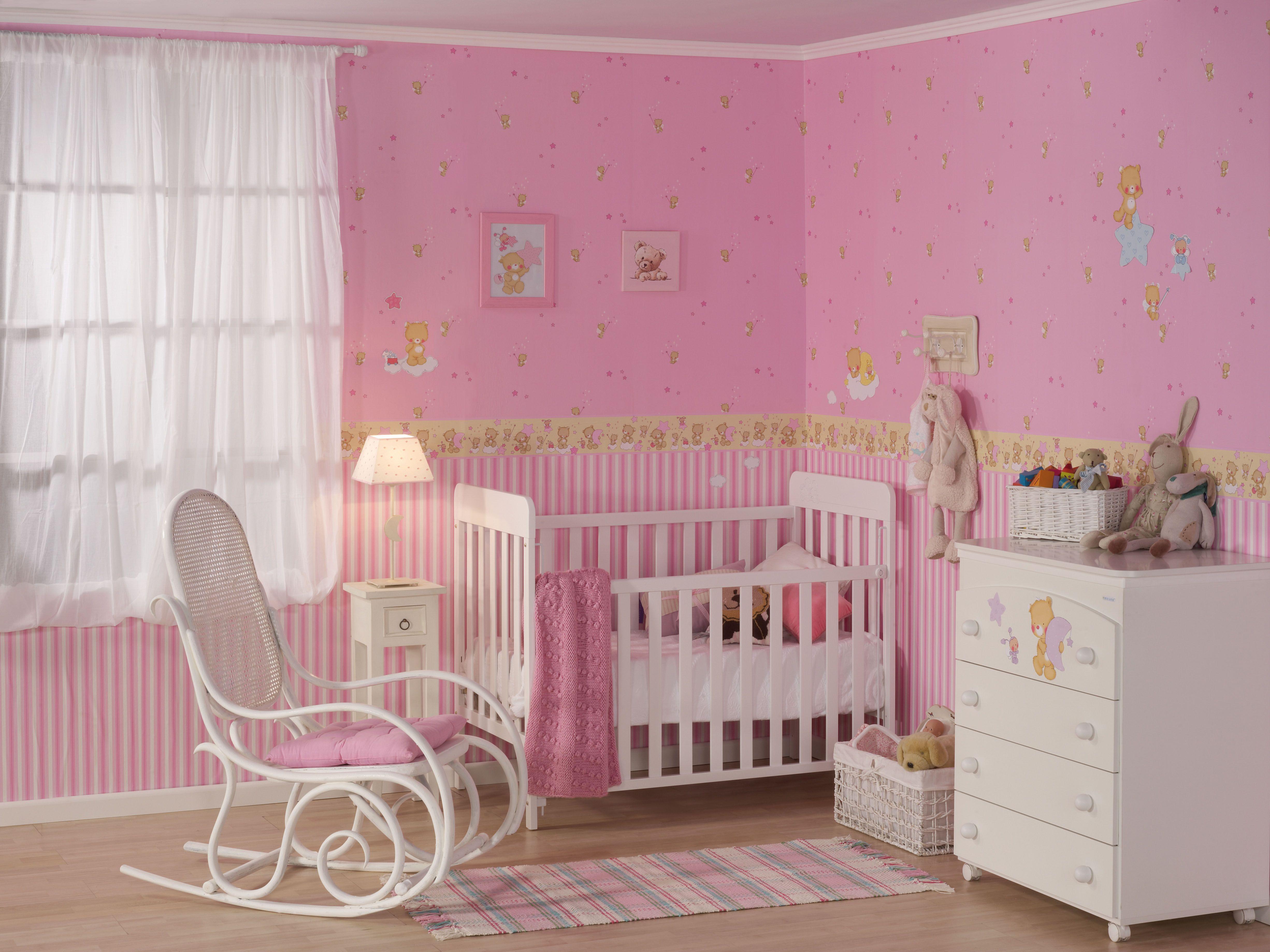Papel pintado para habitacion de bebe las paredes ms - Decopeques vinilos ...