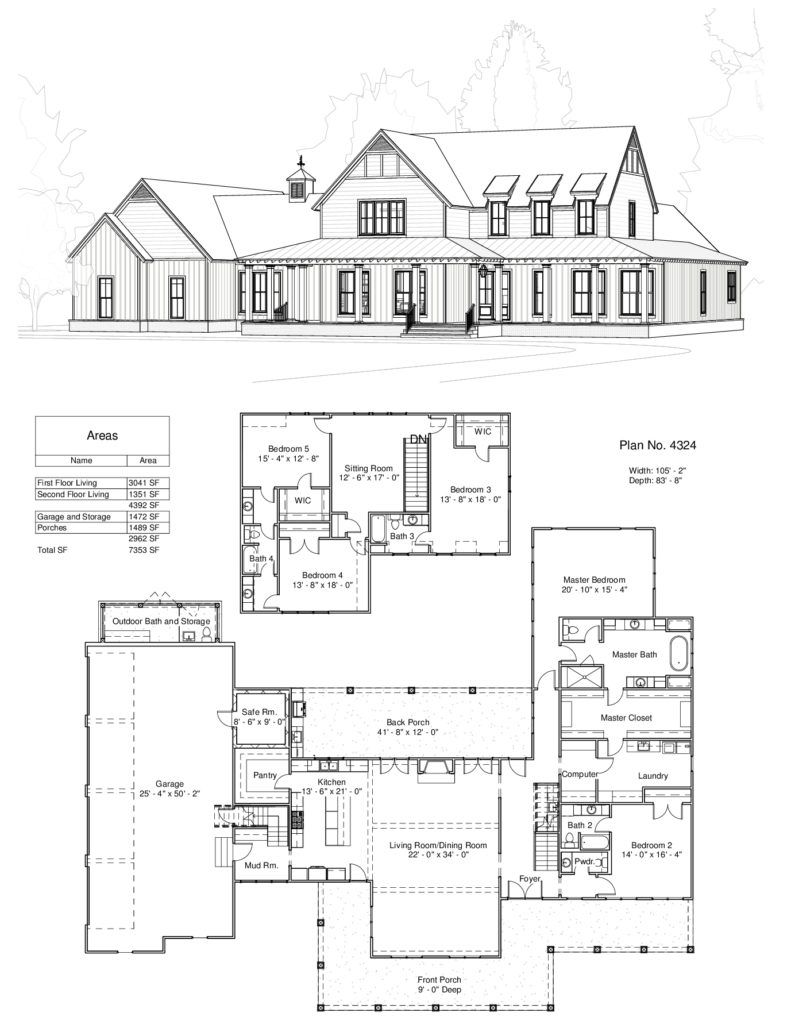 Plan 4324 Design Studio New House Plans Barn House Plans Dream House Plans