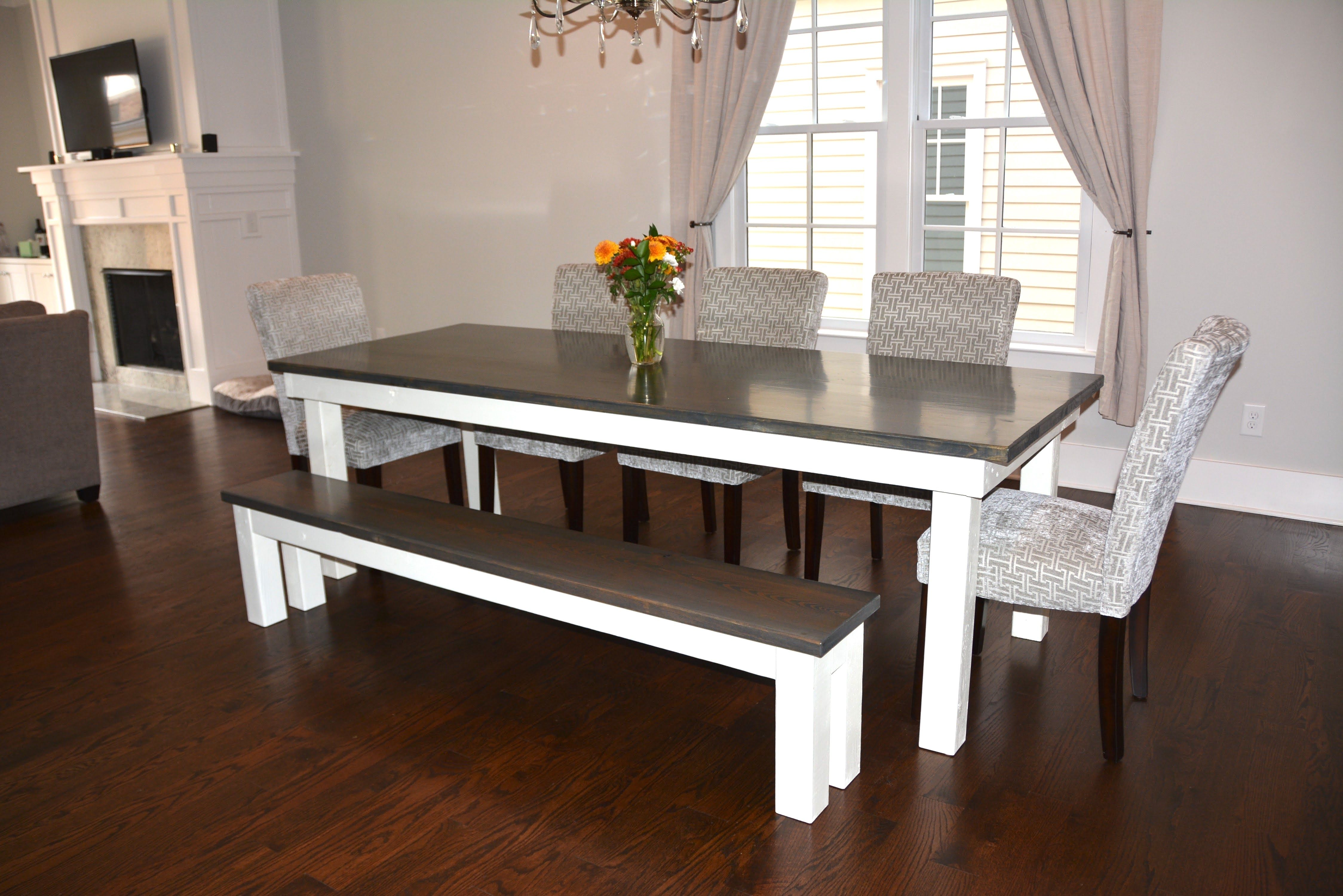 Farmhouse table high dining table dining table with