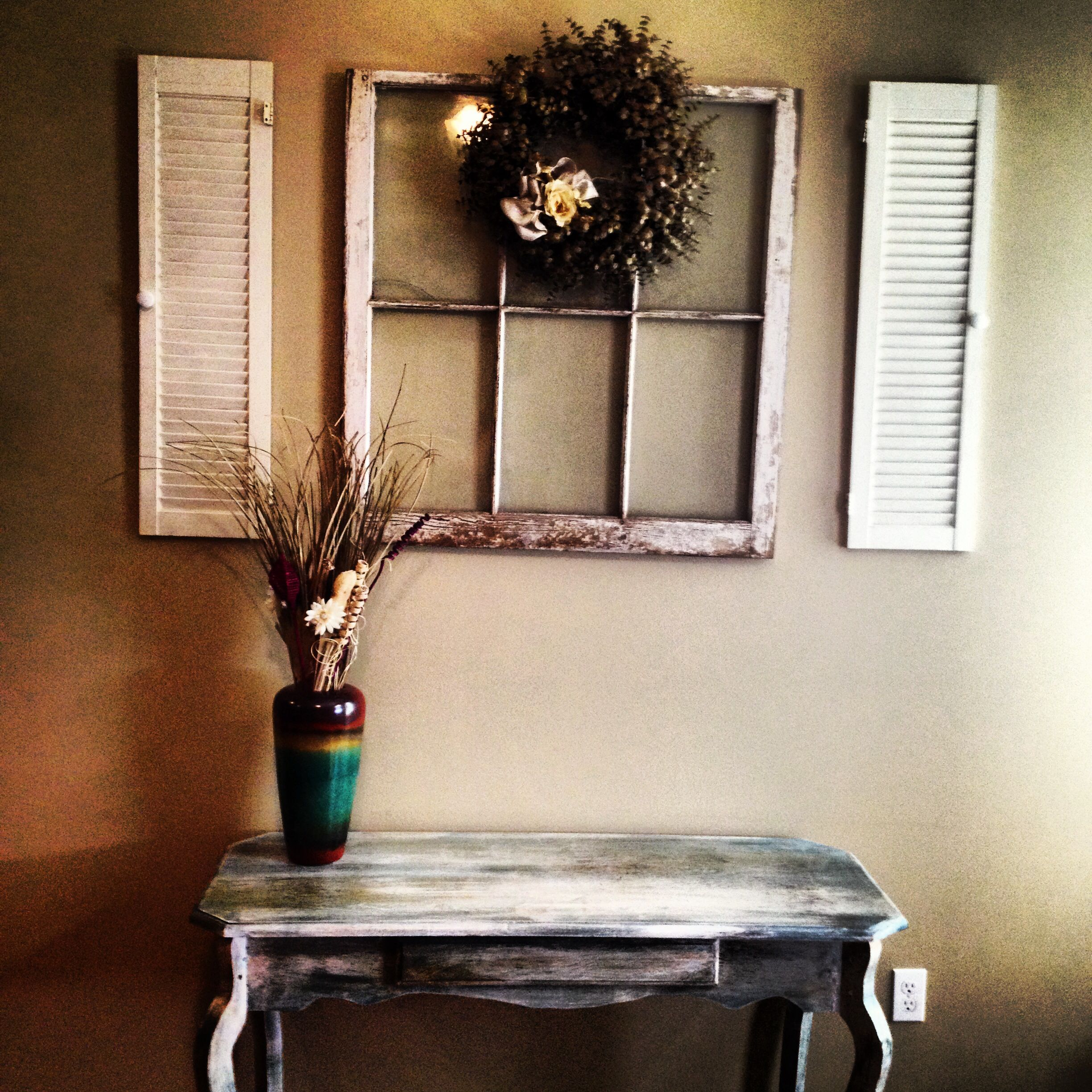 Pin By Kelly Blackledge On Home Sweet Home Shutters Repurposed Decor Repurposed Windows Old Window Decor