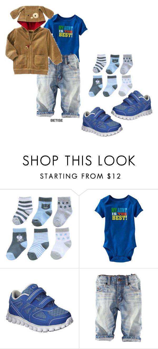 """""""AUNTY""""S  BOY 😎"""" by betty-sanga ❤ liked on Polyvore featuring Carter's, C9 by Champion and H&M"""