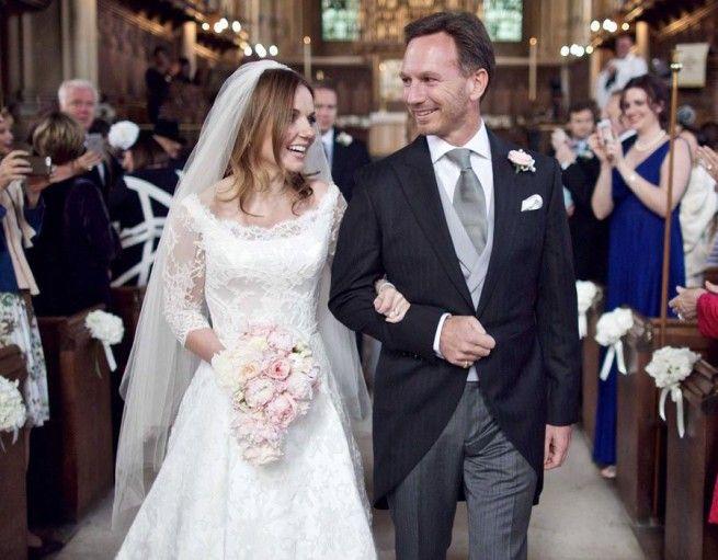 Lovely wedding! Geri Halliwell and Christian Horner!