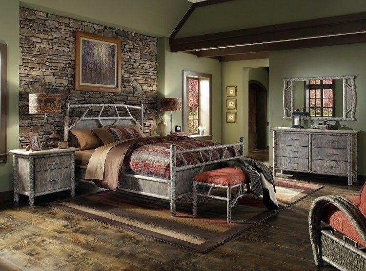 26 idées déco chambre à coucher de style rustique