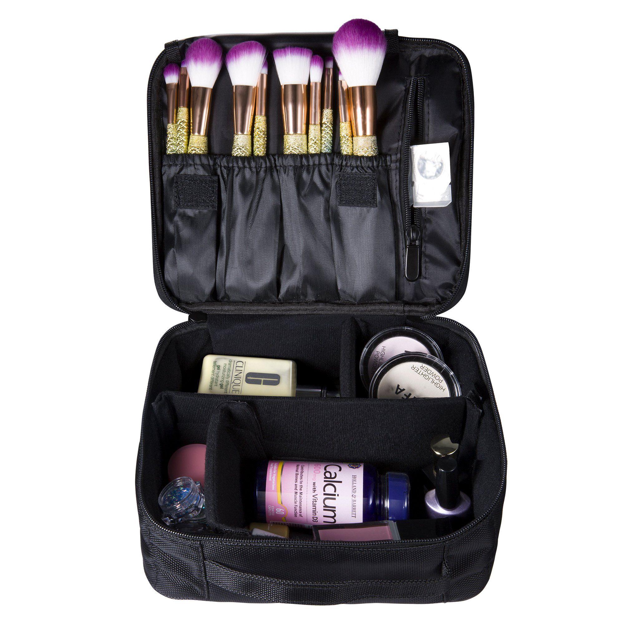 Portable Makeup Cosmetic Bag Train Case Large Capacity Waterproof Organizer  Bag by NATPLUS 8dbf4510abc62