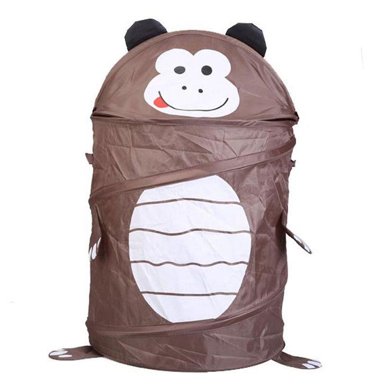9 Style Cute Cartoon Animal Storage Bucket Lovely and Fashion Folding Cylinder Laundry Basket Toy Box