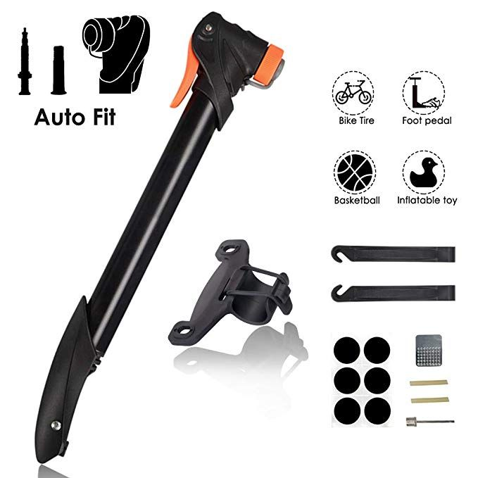 Wotow Mini Bike Pump Portable Light Bicycle Frame Mounted Fast Air Pump Fits Presta And Schrader With Tire Glueless Puncture Repair Kit For Road Mtb Bmx Bike B Bike Pump Bicycle