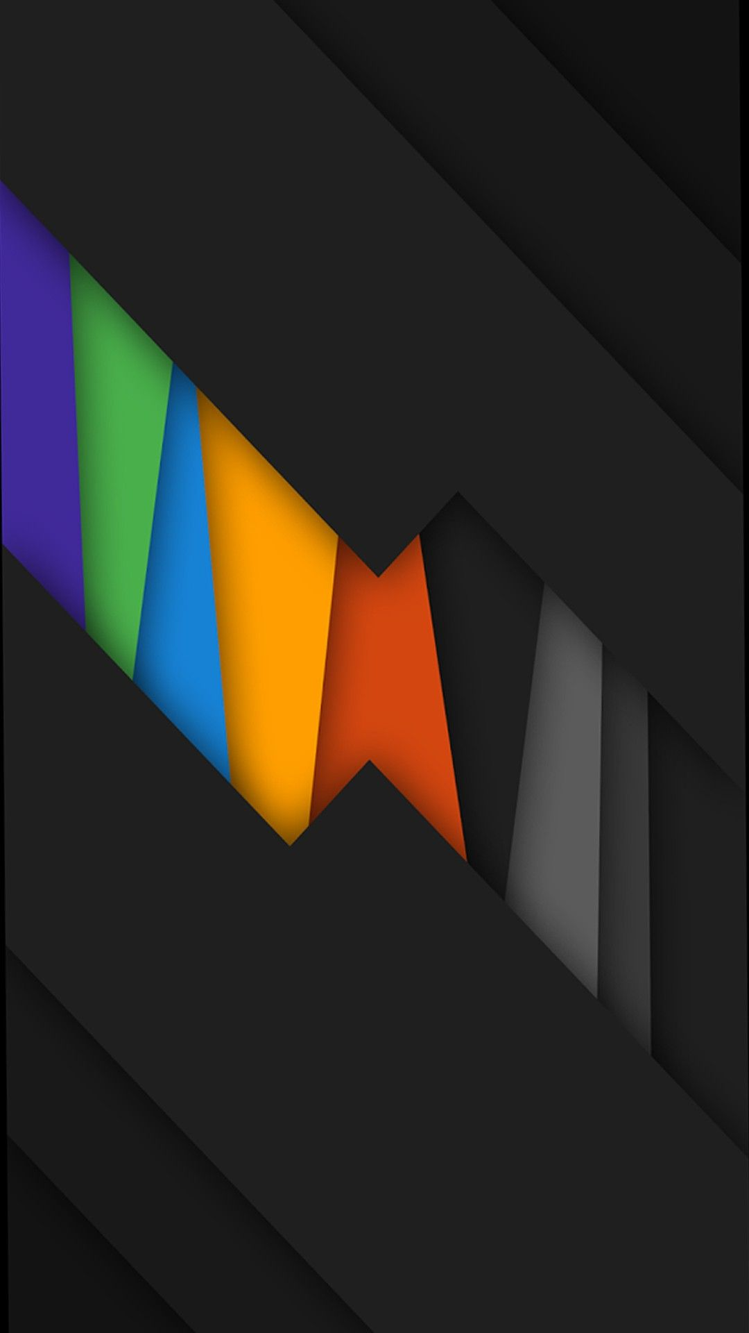 Black Rainbow Colors Abstract Best Wallpapers Android Islamic Wallpaper Android Wallpaper