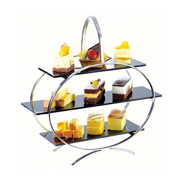 Stand Display Wnk Chrome Plated Afternoon Tea 3 Tier With Acrylic Plates 403mm  sc 1 st  Pinterest & Stand Display Wnk Chrome Plated Afternoon Tea 3 Tier With Acrylic ...