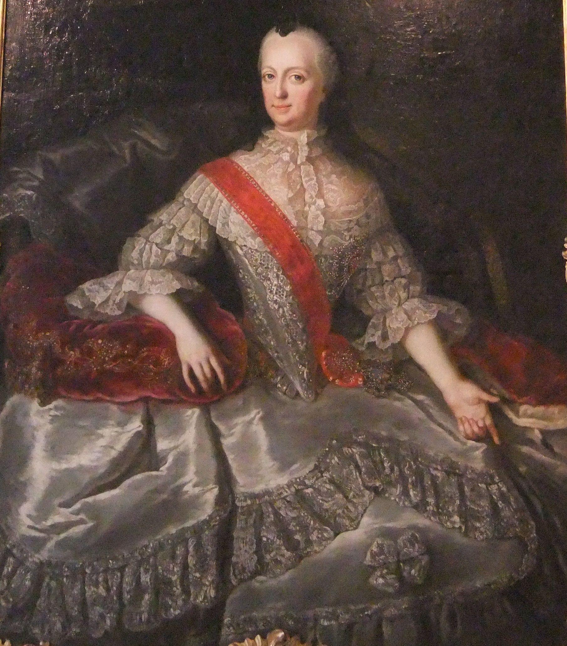 artist Anna Rosina Lisiewska (1713–1783)  Porträt der Joanna Elisabeth of Holstein-Gottorp (1712-1760) Datumetwa 1752 Momentaner StandortSchloss Gottorf