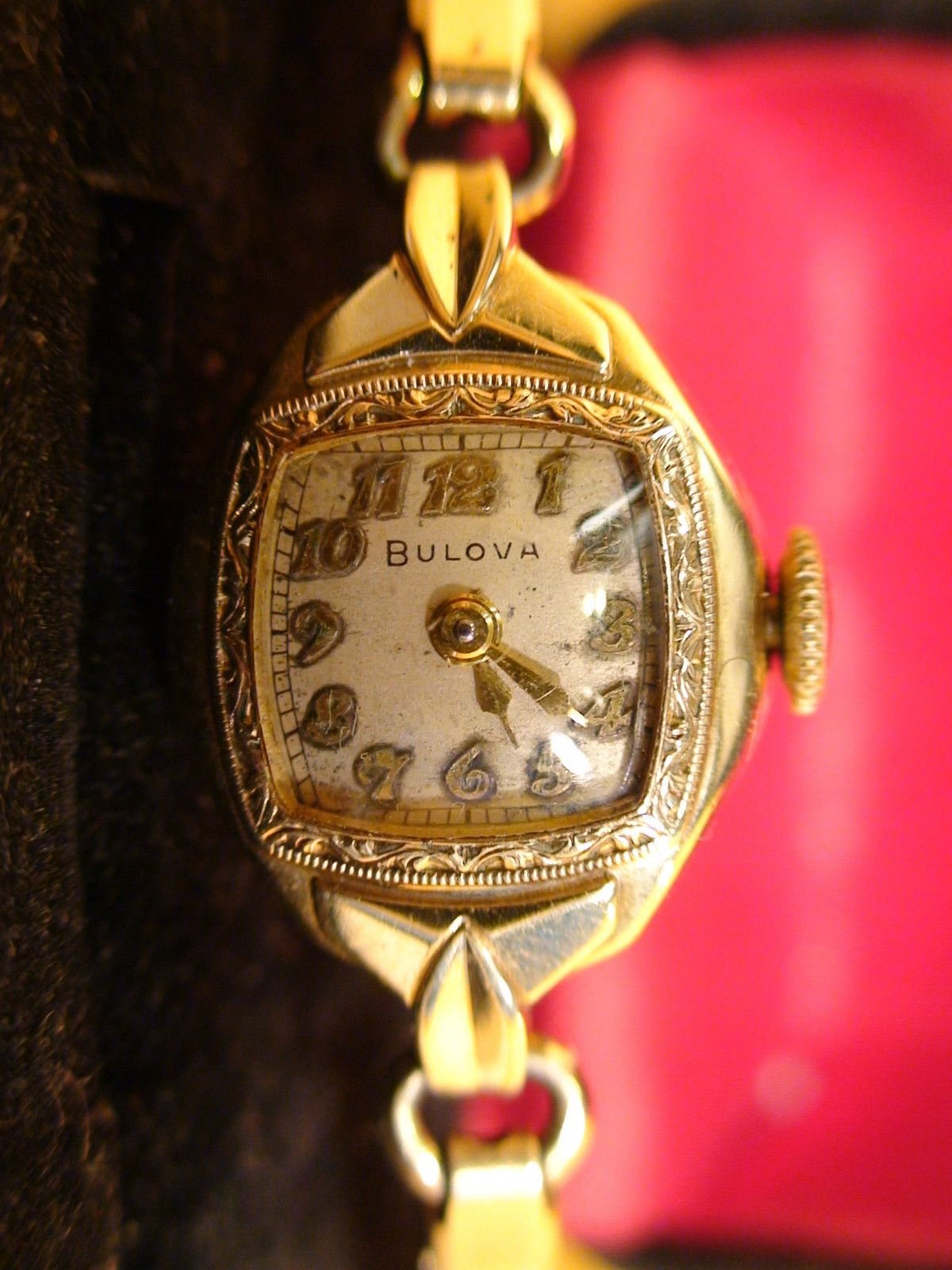 Antique 1940s Bulova Swiss Vintage Ladies 10k Gold Filled Watch Serviced Works Vintage Watches Women Women Watches Gift Antique Watches