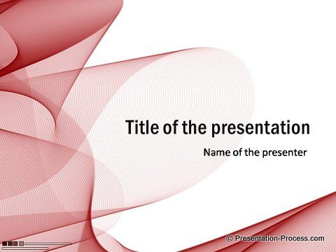 Red PowerPoint Title Template free for download | Projects to Try ...