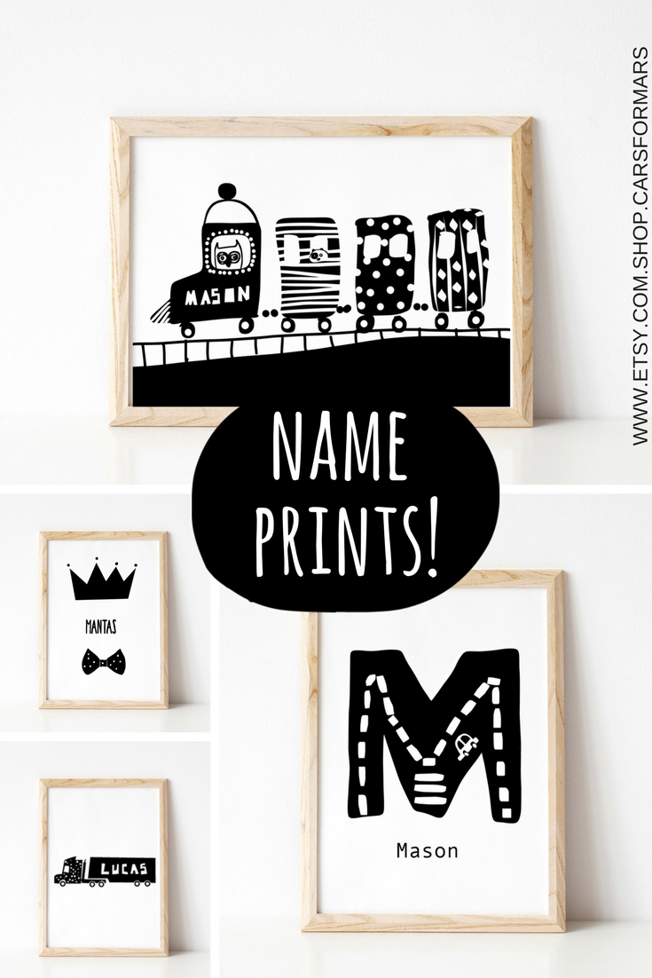 Black And White Nursery Prints