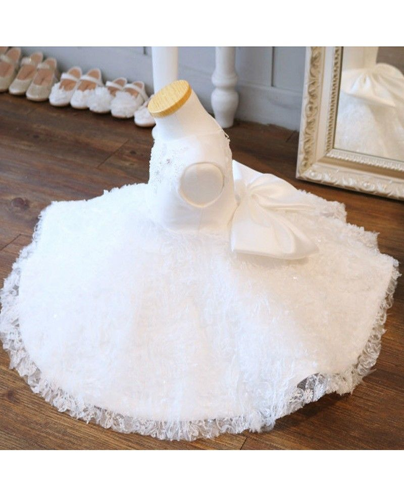Girls wedding dress  Super Cute Tutu Girls Wedding Dress White Flower Girl Dress For