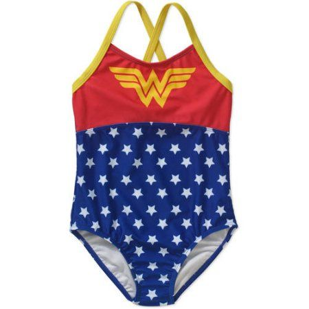 ab994ebd31 Wonder Woman Girls  One Piece Swimsuit