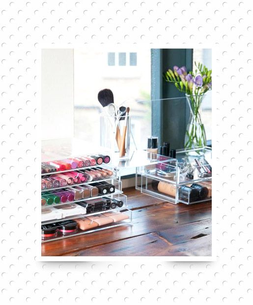 20 Clever Ways to Organize Your Makeup Clutter images
