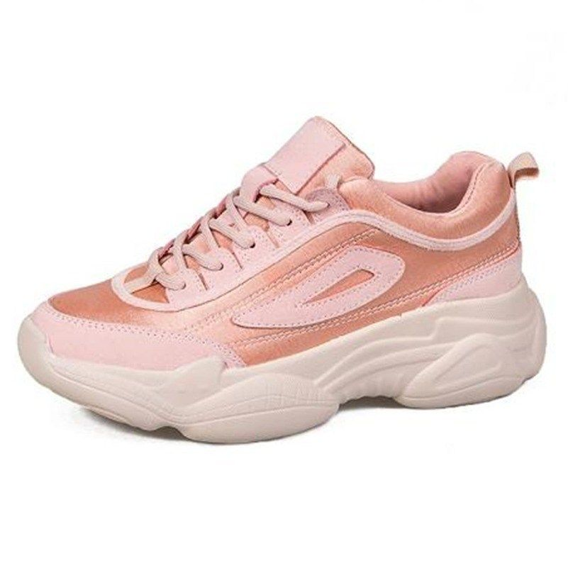 2750c183975 Women's Chunky Sneakers 2019 Platform Women Shoes Lace Up Pink ...