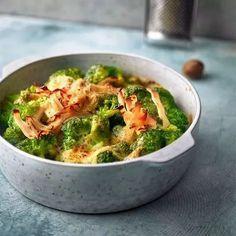 Brokkoli mit Bergkäse und Hähnchenbrustschinken #spitzkohlrezeptehackfleisch