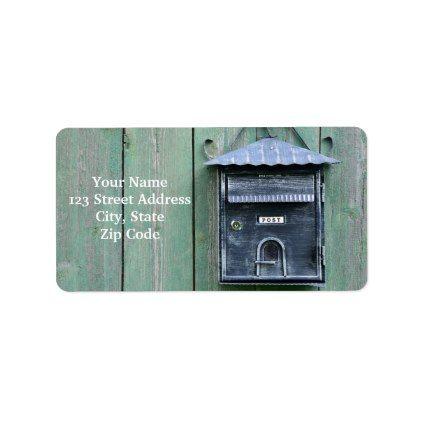 Happy Postcrossing Mailbox Label Labels Customize Diy Cyo Personalize Labels Diy Postcrossing Custom Address Labels