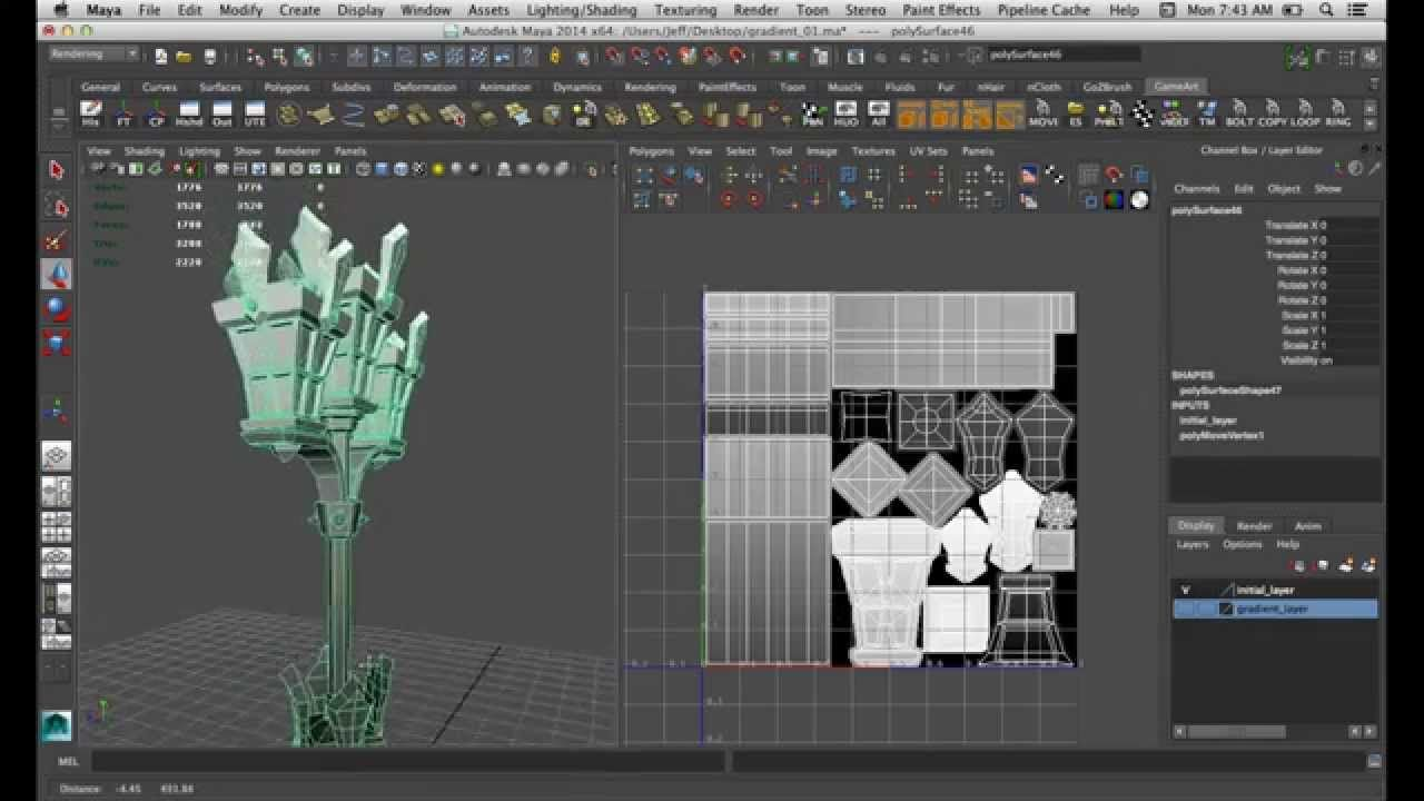 Gradient Map Baking With Maya 3d Tutorial Maya Zbrush