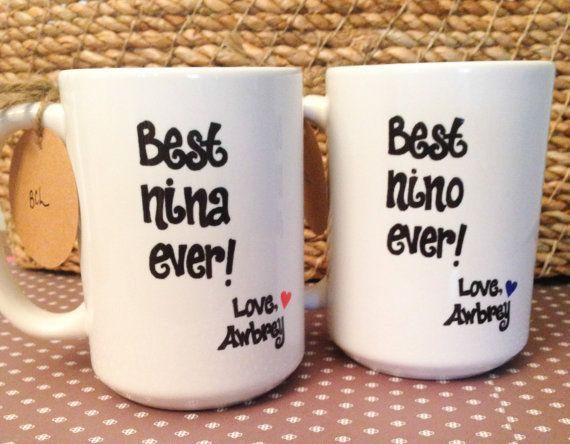 Spanish Godparent NINA or NINO Mugs, Godparent BAPTISM Gift