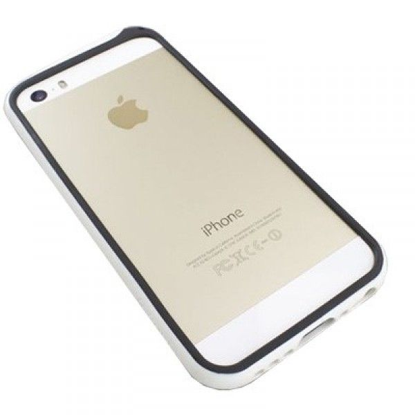 73e7a928937 Comprar funda bumper protectora para iPhone 5/5s blanca y negra · MaxMovil