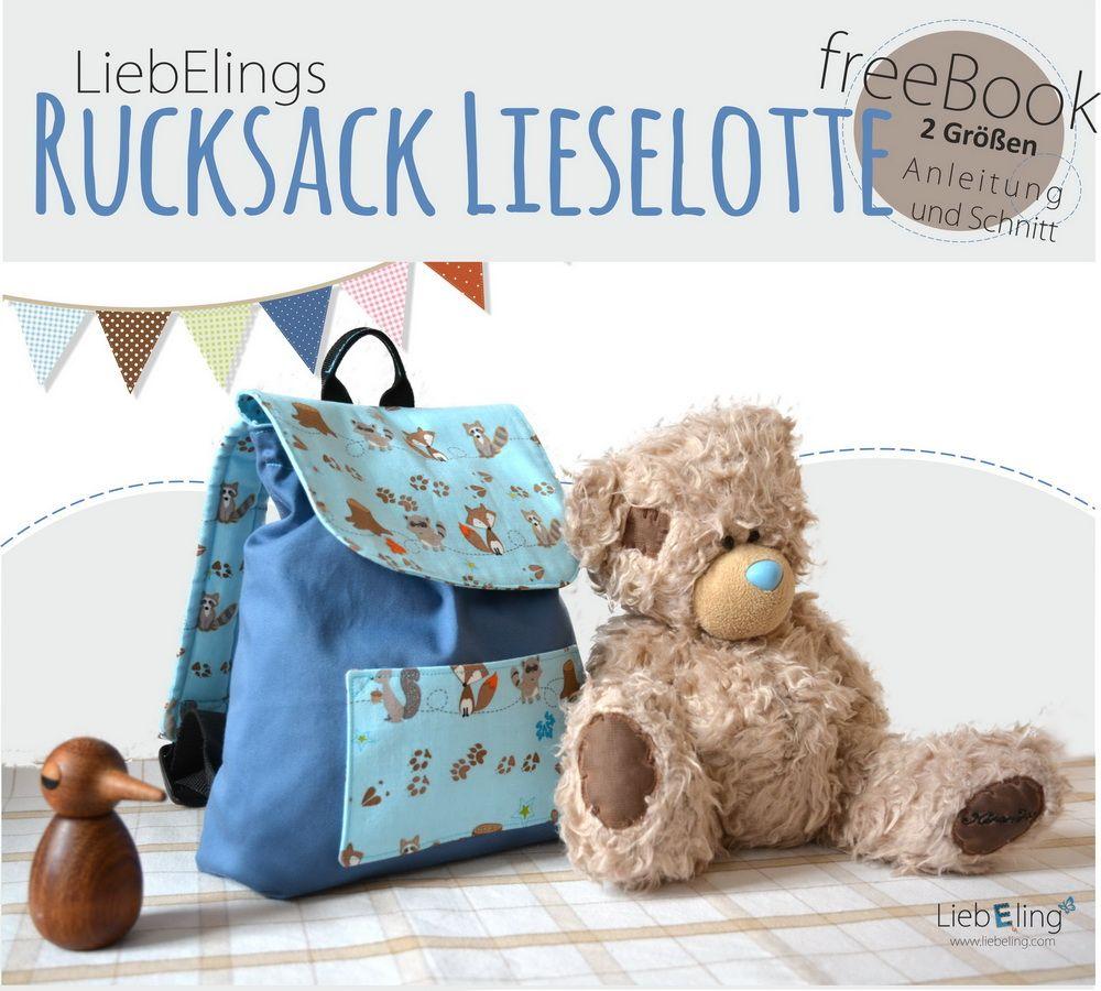 PDF Pattern - Kostenloses Ebook Kindergarten Rucksack | Rucksäcke ...