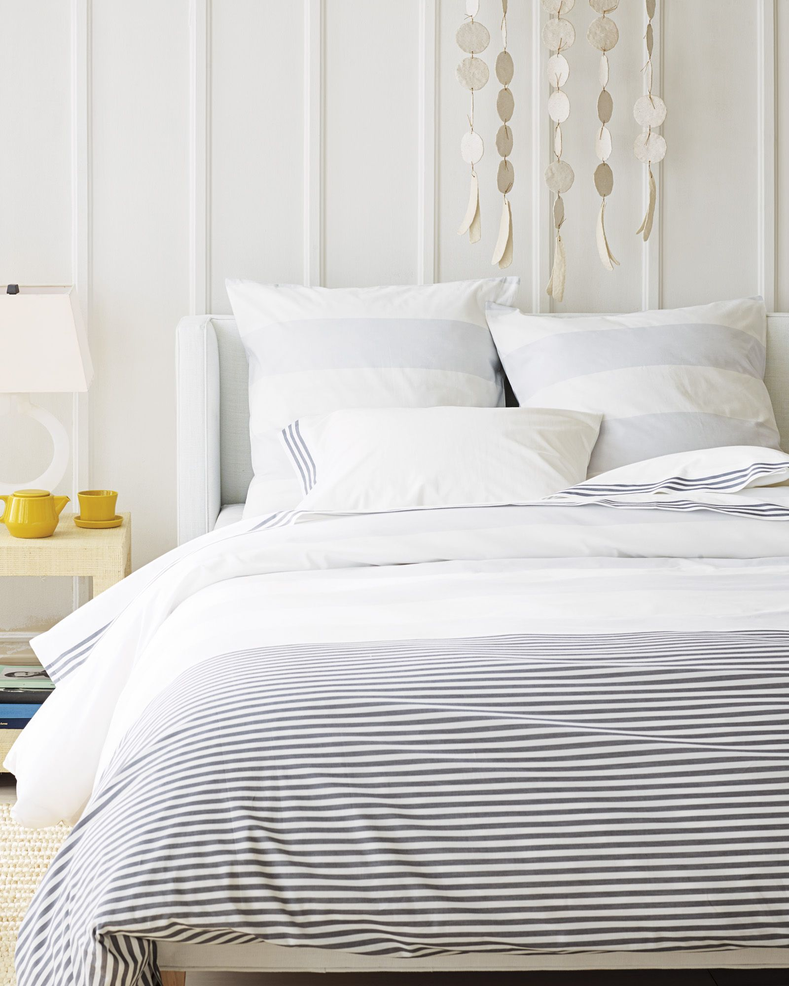 pin stripe bedding ticking darcy blue duvet home at bedeck cover sky