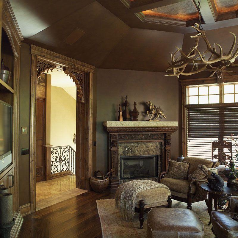 Love the antler chandelier - plan 051S-0007 - houseplansandmore.com