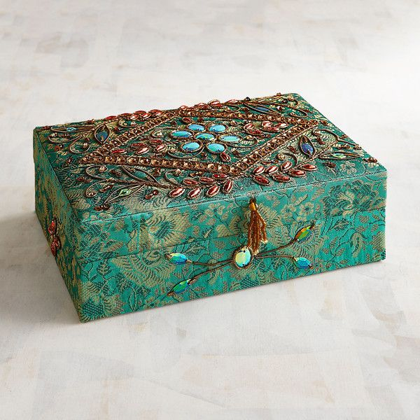 Pier 1 Imports Jacquard Jewelry Box ($14) liked on ...