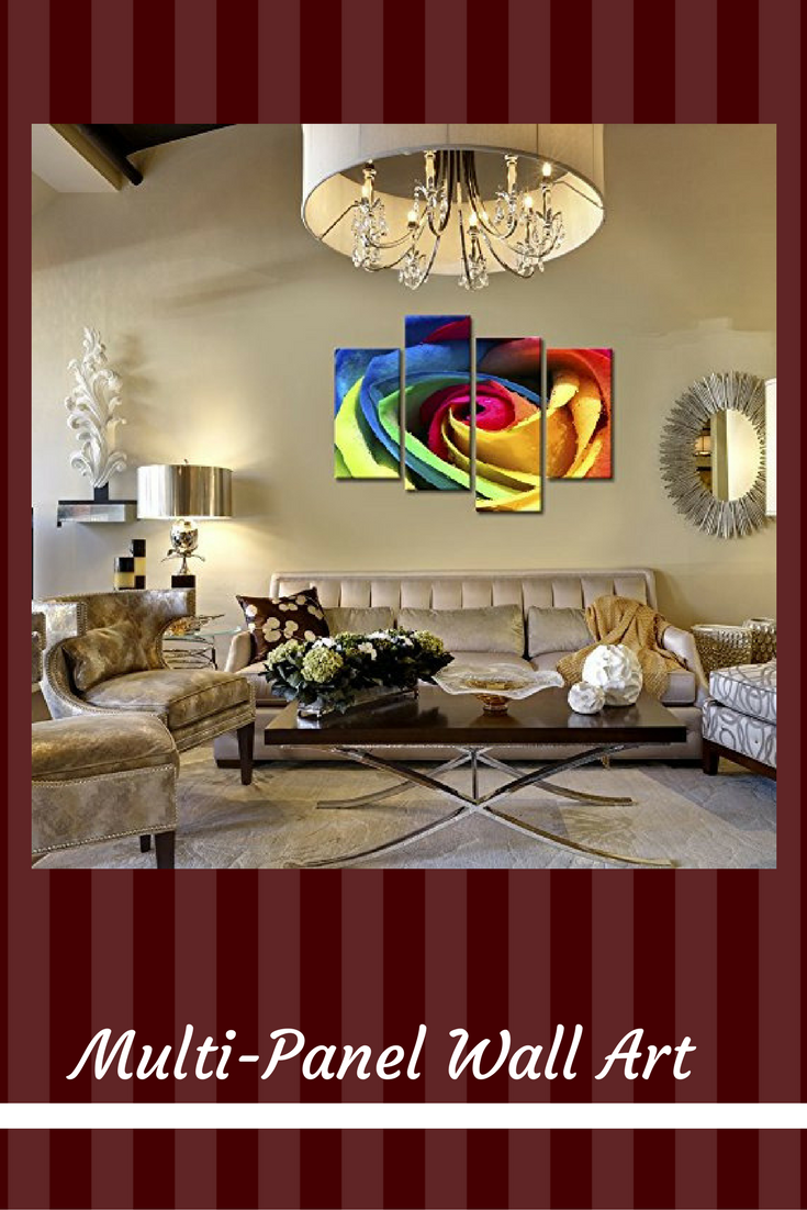 Decorating with multi panel wall art diy home decor ideas
