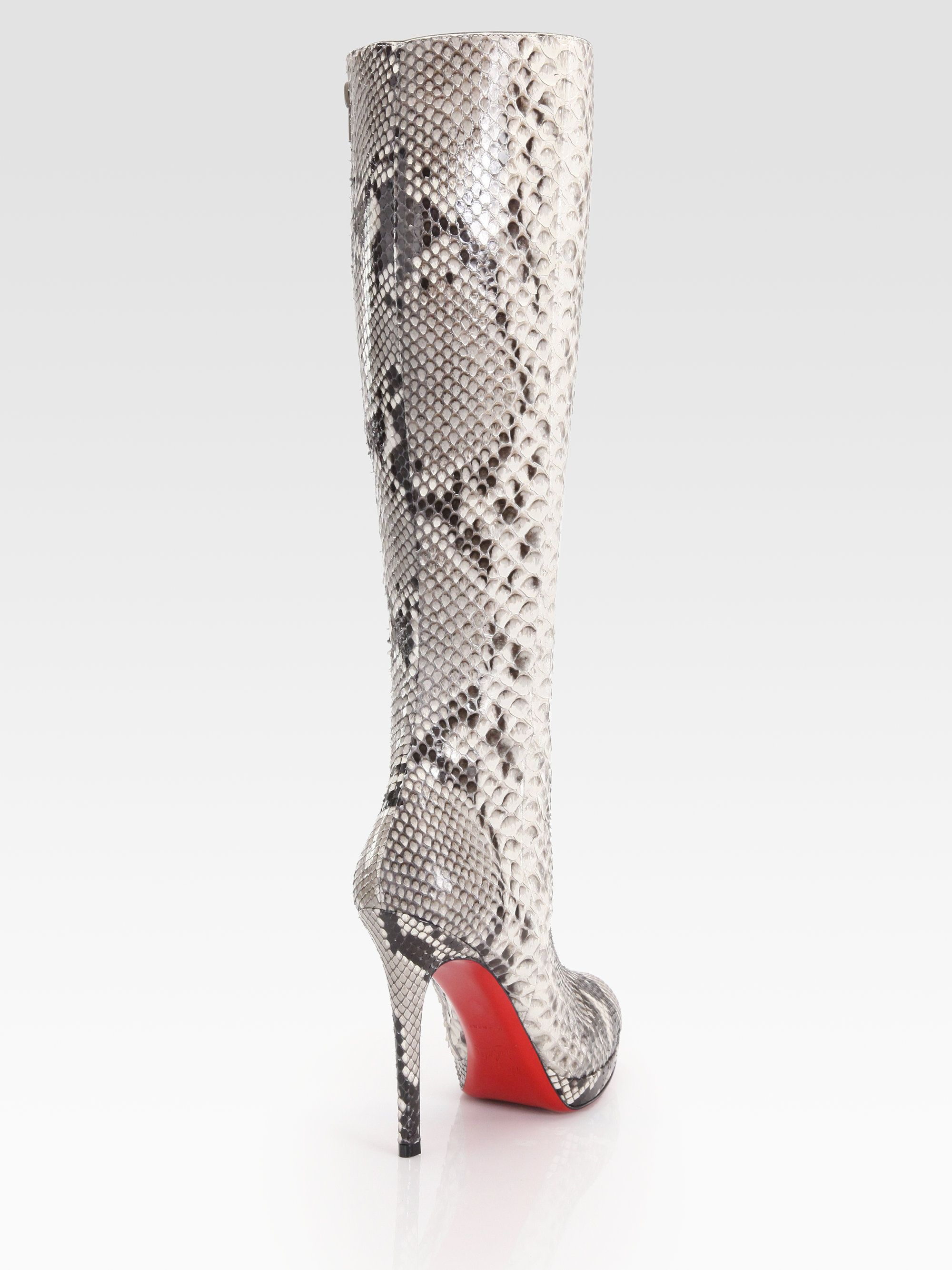 outlet store fd222 f6ac4 Christian Louboutin | Knee High Boots | Snakeskin boots ...