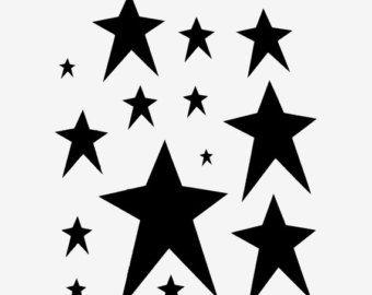 Pix For U003e Star Stencil Designs Clip Art Stencils Playroom Rh Ca
