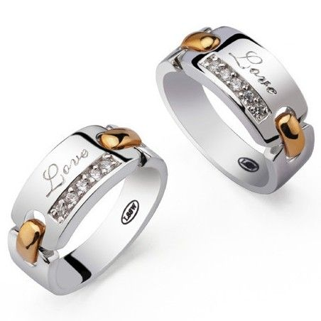 Engravable Wedding Set Rings for Bride and Groom Set of 2 Couples