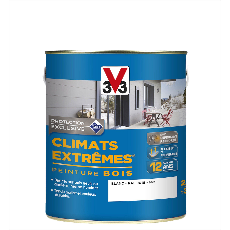 Peinture Bois Extérieur Climats Extrêmes V33 Blanc 25 L