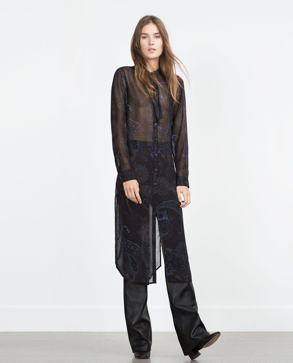 Long printed shirt long tops woman zara indonesia kurtis pants long printed shirt long tops woman zara indonesia stopboris Images