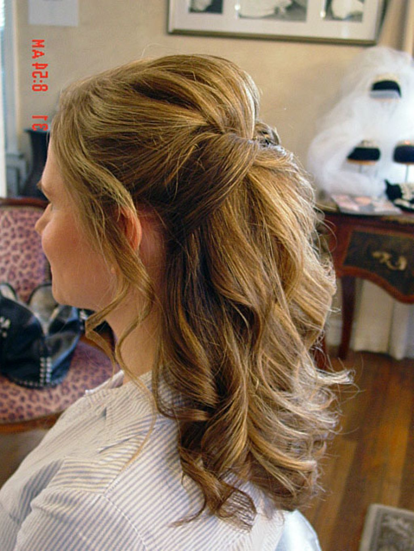 half up half down wedding hair updo | hairstyle in 2019