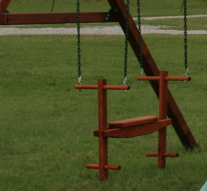 Redwood Glider Is Two Person Swing For Your Wooden Playset