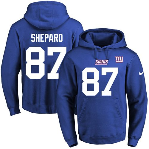 564772e47ed ... discount jersey nike giants 87 sterling shepard royal blue name number  pullover nfl hoodie 8a135 81917