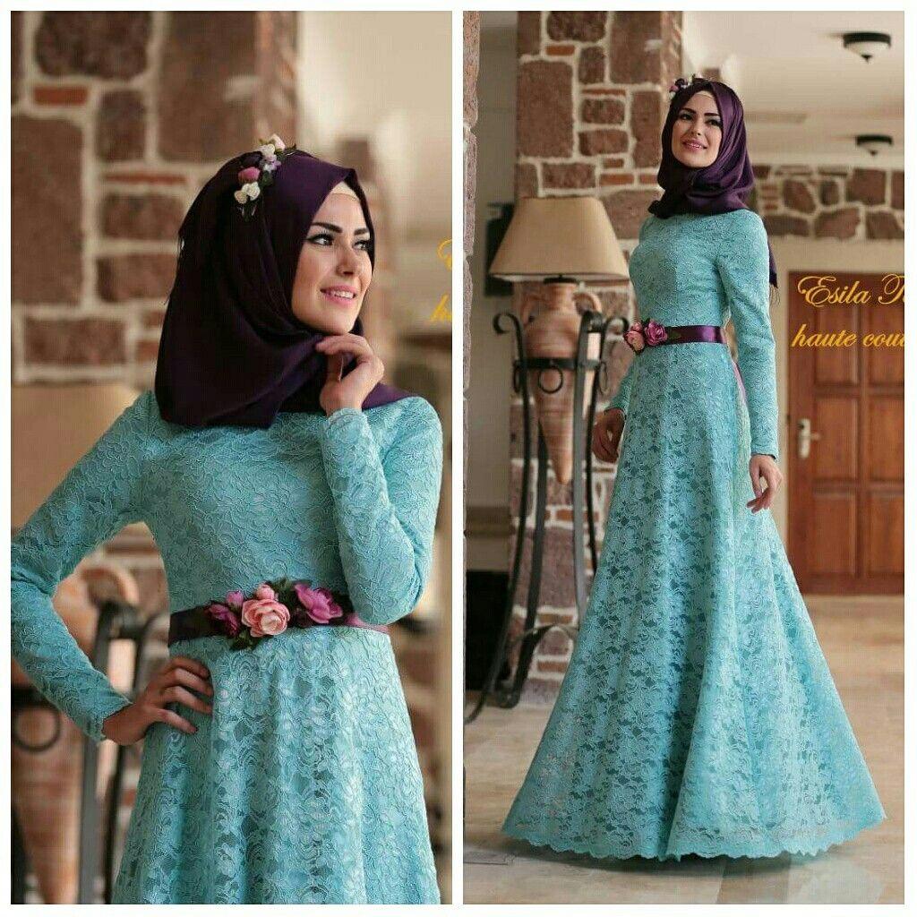 İzmir Tesettür abiye hijab dantel abiye türban şal düğün