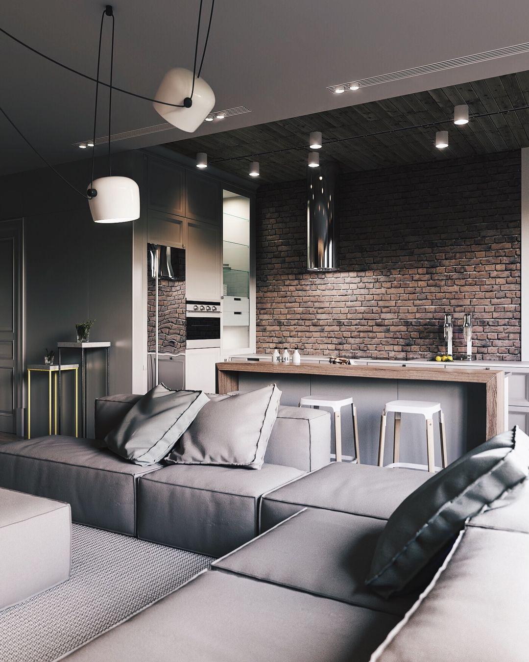 Designed by art partner  loft interior also tijolos interiors pinterest kitchen design house rh