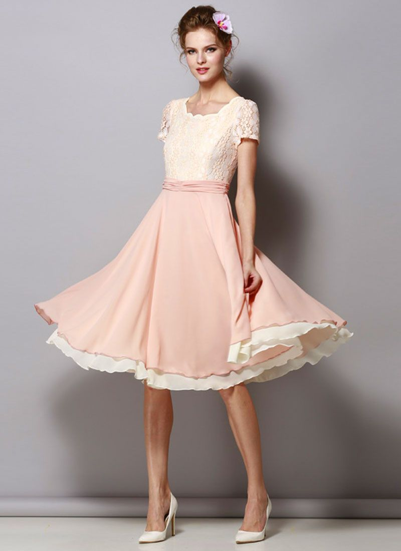 Rose Pink Chiffon Dresses