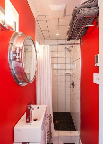 de baño (con imágenes) | Cuarto de baño rojo, Espejos para ...