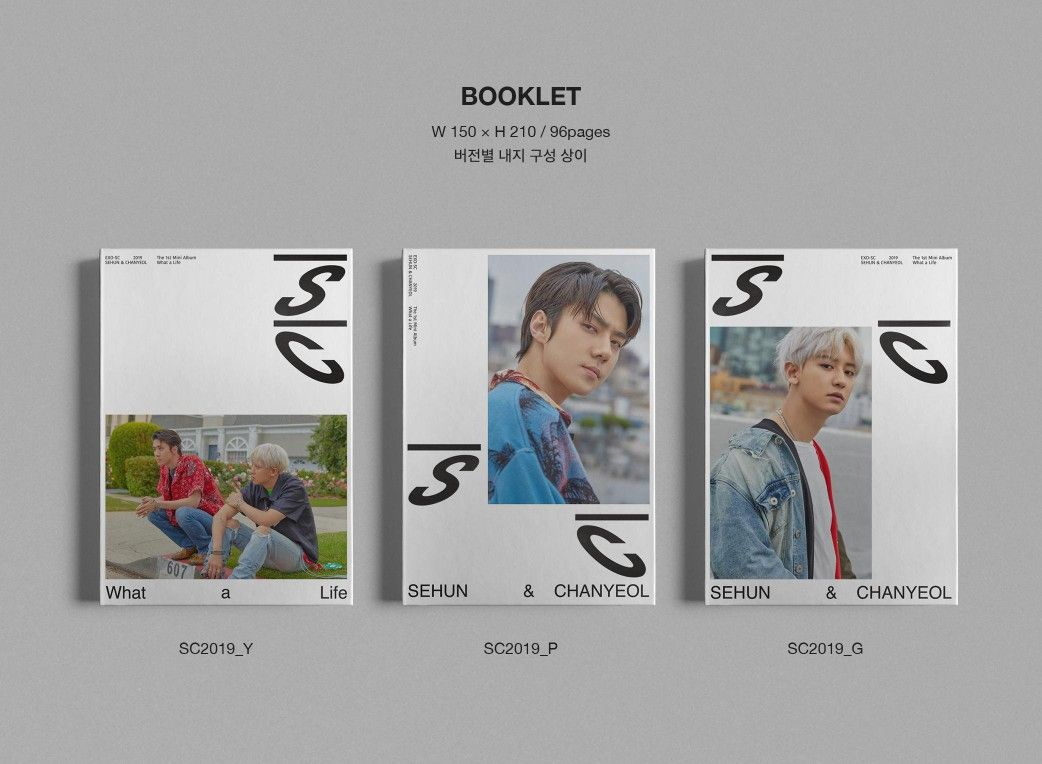 Exo Sc 1st Mini Album What A Life Album Details Per Version Booklet 96 Pages Exo Exo Sc Sehun Chanyeol Whatalife Weareoneexo