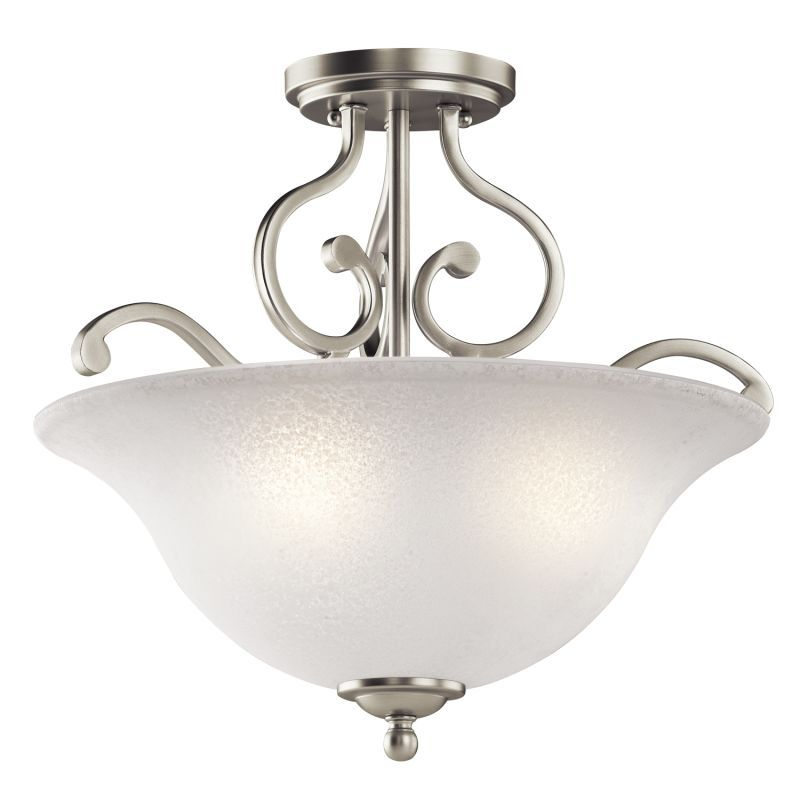 Kichler 43232 Camerena 3 Light 18 Wide Semi Flush Ceiling Fixture With Scavo Gl