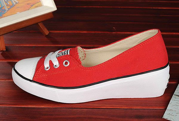 Red Converse Wedge Heels Chuck Taylor All Star Platform Girls Women Low Tops Shoes F51502 58 00 Canada Ofiicial In Ontario