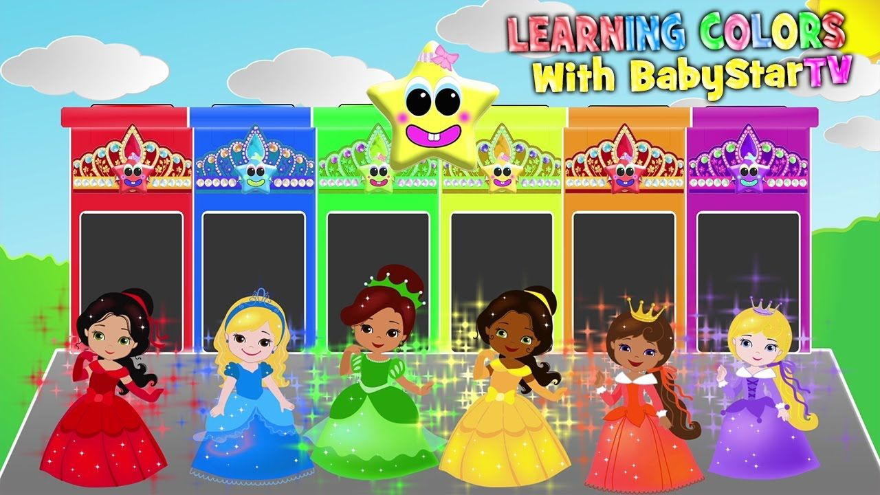 Princess Barbie LEARN COLORS - Learn Colours for kids with Princess ...