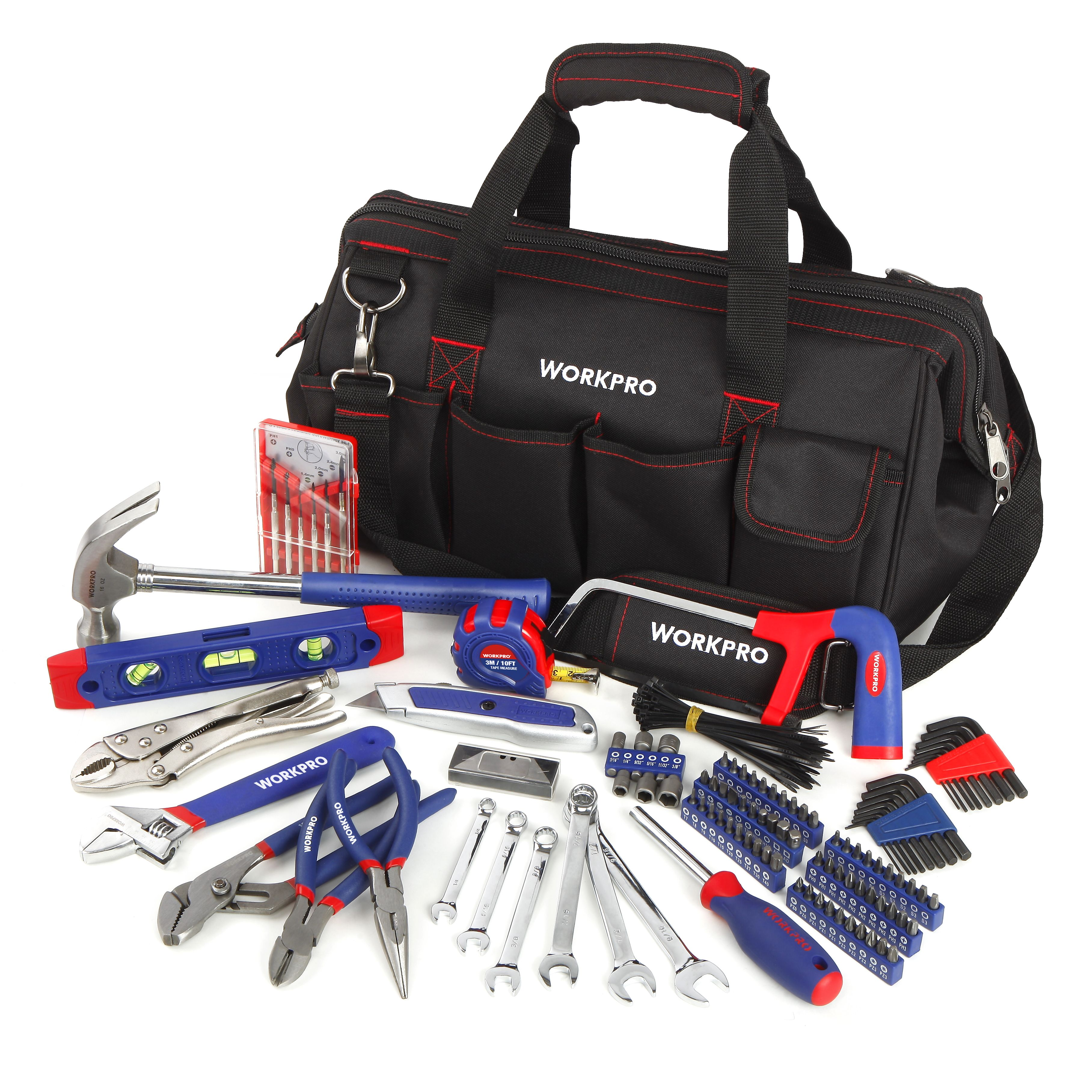 Workpro 156 Piece All Purpose Home Repair Tool Set Ad Piece Aff Purpose Workpro In 2020 Tool Bag Tool Set Hand Tool Sets